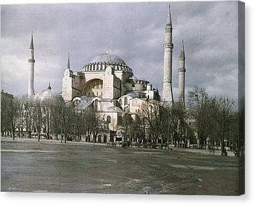 A View Of Sancta Sophia From Arcoss Canvas Print by Maynard Owen Williams