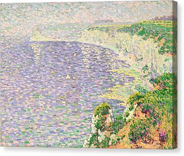 A View Of The Cliffs Of Etretat Canvas Print by Claude Emile Schuffenecker