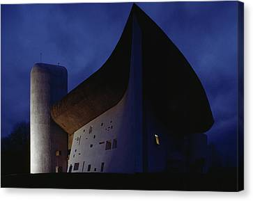 A View Of The Exterior Of The Chapel Canvas Print by James L. Stanfield