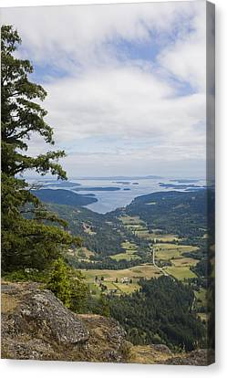 A View Of The Farms Of The Island Canvas Print by Taylor S. Kennedy