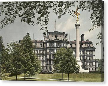 A View Of The Government Building Canvas Print by Charles Martin