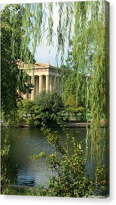 A View Of The Parthenon 1 Canvas Print by Douglas Barnett