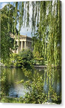 A View Of The Parthenon 10 Canvas Print by Douglas Barnett