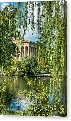 A View Of The Parthenon 11 Canvas Print by Douglas Barnett