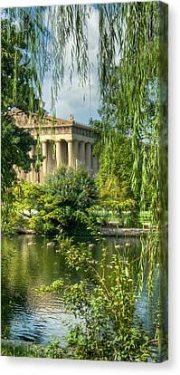 Willow Lake Canvas Print - A View Of The Parthenon 13 by Douglas Barnett