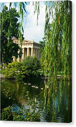 Willow Lake Canvas Print - A View Of The Parthenon 15 by Douglas Barnett