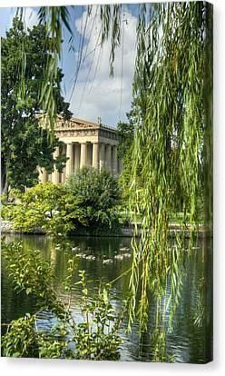Willow Lake Canvas Print - A View Of The Parthenon 16 by Douglas Barnett