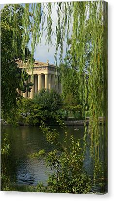 A View Of The Parthenon 3 Canvas Print by Douglas Barnett