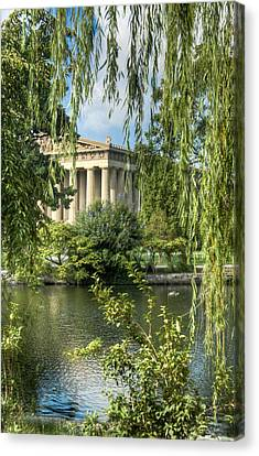 A View Of The Parthenon 5 Canvas Print by Douglas Barnett