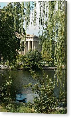 A View Of The Parthenon 6 Canvas Print by Douglas Barnett