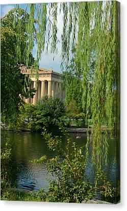 Willow Lake Canvas Print - A View Of The Parthenon 8 by Douglas Barnett