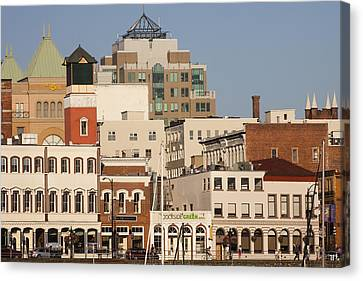 A View Of The Skyline Of Victoria Canvas Print by Taylor S. Kennedy