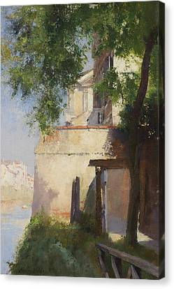 A View Of Venice From A Terrace Canvas Print