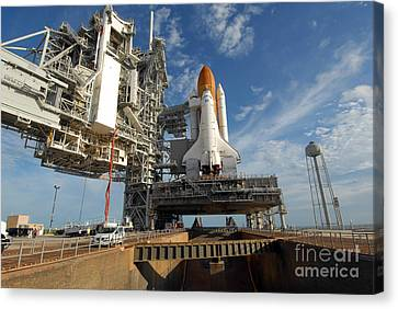 A View Space Shuttle Atlantis On Launch Canvas Print by Stocktrek Images