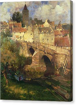 A Village In East Linton Haddington Canvas Print by James Paterson