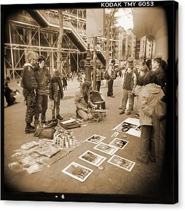 Holga Camera Canvas Print - A Walk Through Paris 6 by Mike McGlothlen