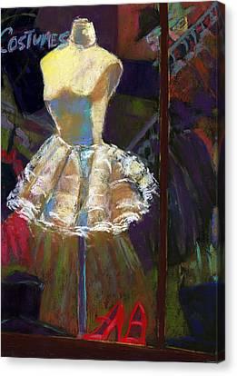 A White Costume Canvas Print by Cheryl Whitehall