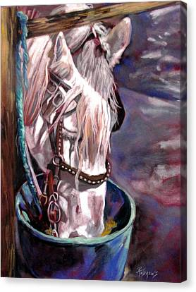 Canvas Print featuring the painting A Whiter Shade Of Pale by Rae Andrews