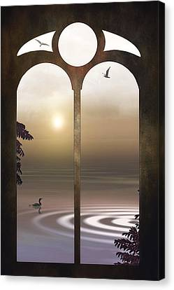 A Window To The Sunset Canvas Print by Tom York Images