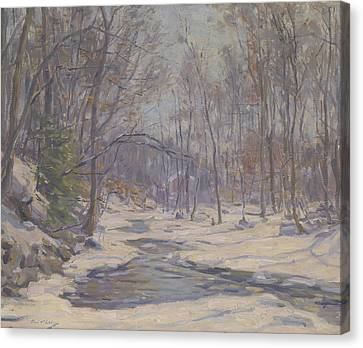 A Winter Morning  Canvas Print by Frank Townsend Hutchens