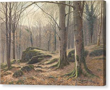 A Winter Morning Canvas Print by James Thomas Watts