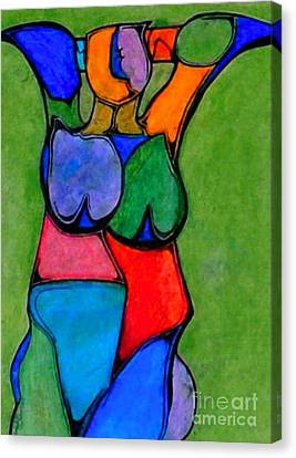 A Womanist Personality Canvas Print by Antione Leonard