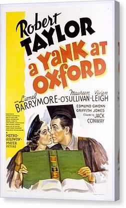 A Yank At Oxford, Maureen Osullivan Canvas Print by Everett