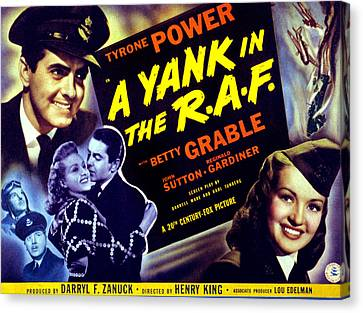 A Yank In The R.a.f., Tyrone Power Canvas Print by Everett