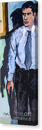 Aaron Hotchner Persuing The Reaper Canvas Print by Ginette Callaway