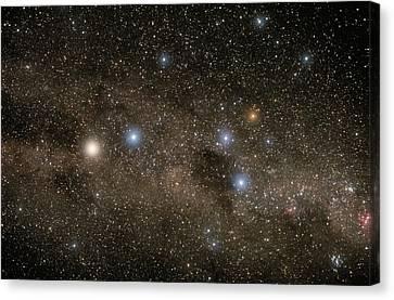 Ab Centauri Stars In The Southern Cross Canvas Print by Akira Fujii