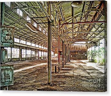 Canvas Print featuring the photograph Abandon Factory by Joe Finney
