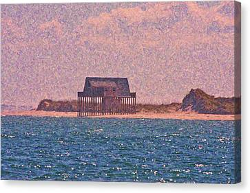 Abandon Fishing Cottage Canvas Print by Betsy Knapp
