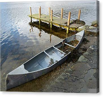 Canvas Print featuring the photograph Abandoned Canoe by Lynn Bolt