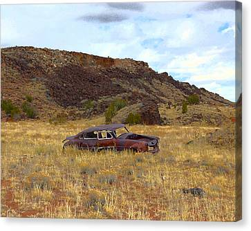 Canvas Print featuring the photograph Abandoned Car by Steve McKinzie