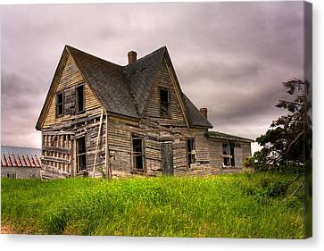 Abandoned Farm House Canvas Print by Matt Dobson