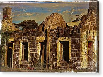 Canvas Print featuring the digital art Abandoned Farmhouse by Blair Stuart