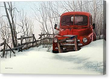 Abandoned In Alberta Canvas Print