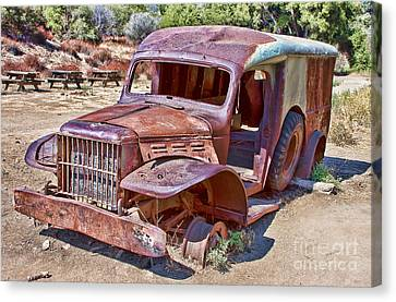 Abandoned Medic Truck Canvas Print by Jason Abando