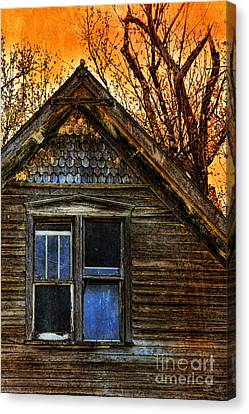 Abandoned Old House Canvas Print by Jill Battaglia