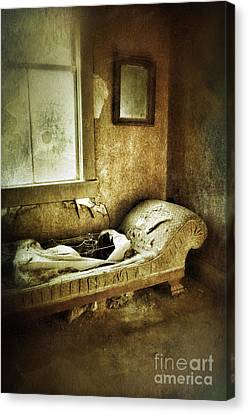 Abandoned Parlor Canvas Print by Jill Battaglia