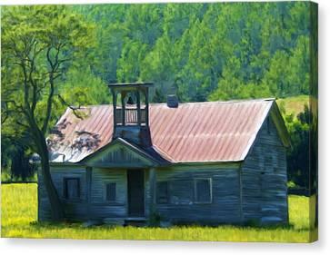 Abandoned Schoolhouse Canvas Print by Renee Skiba