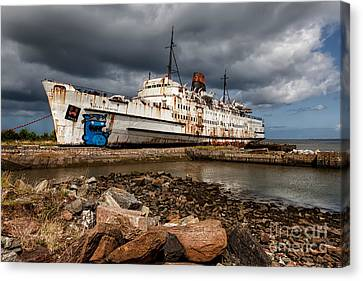 Abandoned Ship Canvas Print by Adrian Evans