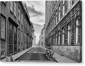Canvas Print featuring the photograph Abandoned Street by Eunice Gibb