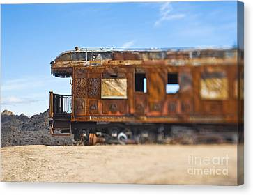 Abandoned Train Car Canvas Print