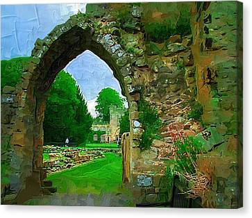 Abbey Archway Canvas Print by Amanda Moore