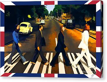 Abbey Road Canvas Print by Tommy Anderson
