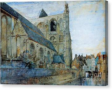 Abbeyville Church Of Saint Wulfran Canvas Print by Pg Reproductions