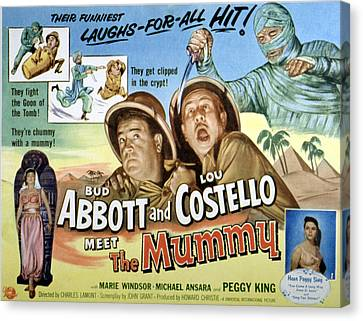 Abbott And Costello Meet The Mummy, Lou Canvas Print by Everett