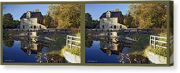Abbotts Pond - Gently Cross Your Eyes And Focus On The Middle Image Canvas Print by Brian Wallace