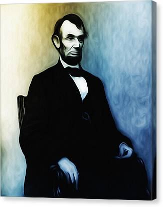 Abe Lincoln Seated Canvas Print by Bill Cannon